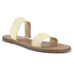Steve Madden Maelie Woven Slide Sandal Tan Flat